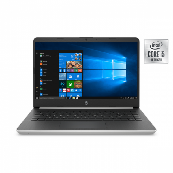 "HP 14 DQ1039wm Ice Lake - 10th Gen Core i5 08GB 256GB SSD + 16GB Optane Memory 14"" MicroEdge HD AG 720p LED Win 10 (Natural Silver)"
